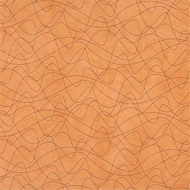 Designer Fabrics B376 54 in. Wide Orange, Abstract Indented Lines Microfiber Upholstery Fabric