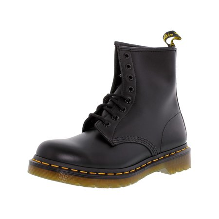 Dr. Martens Women's 1460 8-Eye Black High-Top Leather Boot - - Kids Floral Dr Martens