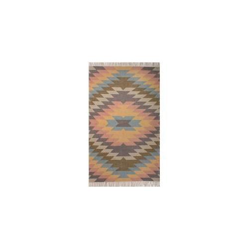 Jaipur Rugs RUG Tribal Pattern Polyester Blue Orange
