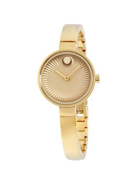 Movado Women's 28mm Gold-Tone Steel Bracelet & Case Sapphire Crystal Quartz Analog Watch 3680021