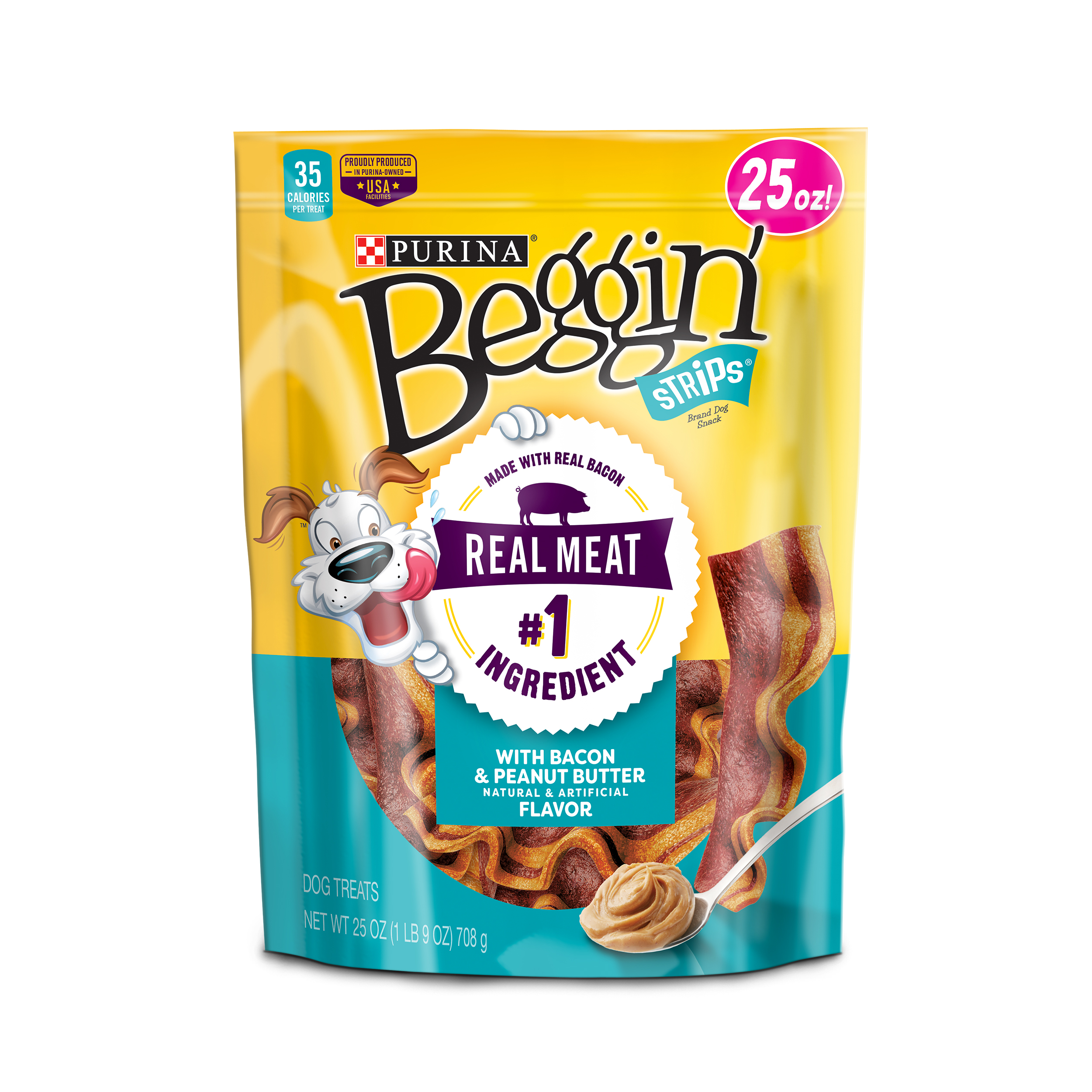 Purina Beggin' Strips Bacon & Peanut Butter Flavor Dog Treats - 25 oz. Pouch