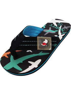 614060e94 Product Image Norty Boys Shark Flip Flop Thong Sandal Perfect for the Beach