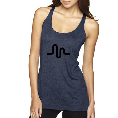 Trendy USA 1162 - Women's Tank-Top Musically Sound Wave Logo XL Navy
