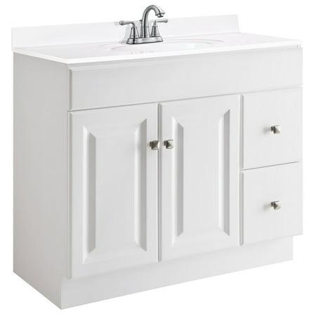 Design House 545095 Wyndham Unassembled 2-Door 2-Drawer Vanity without Top, 36