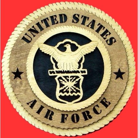 Air Force Wall Tribute Hand Made of wood (Air Force Wood)