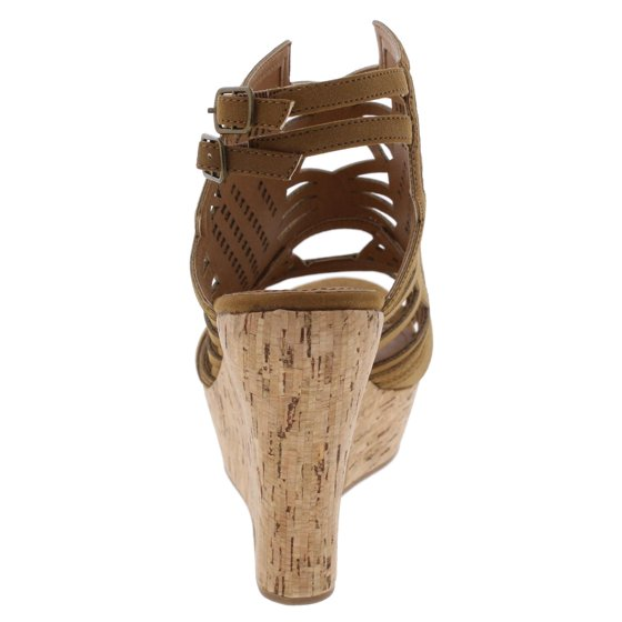 b80cef27a208 Not Rated Womens Elysium Caged Slingback Wedge Sandals - Walmart.com