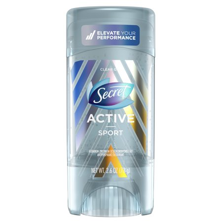 Secret Active Clear Gel Antiperspirant and Deodorant Sport Scent 2.6 Oz.