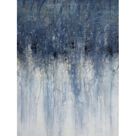 Opal IV Blue Abstract Painting Print Wall Art By Joshua Schicker