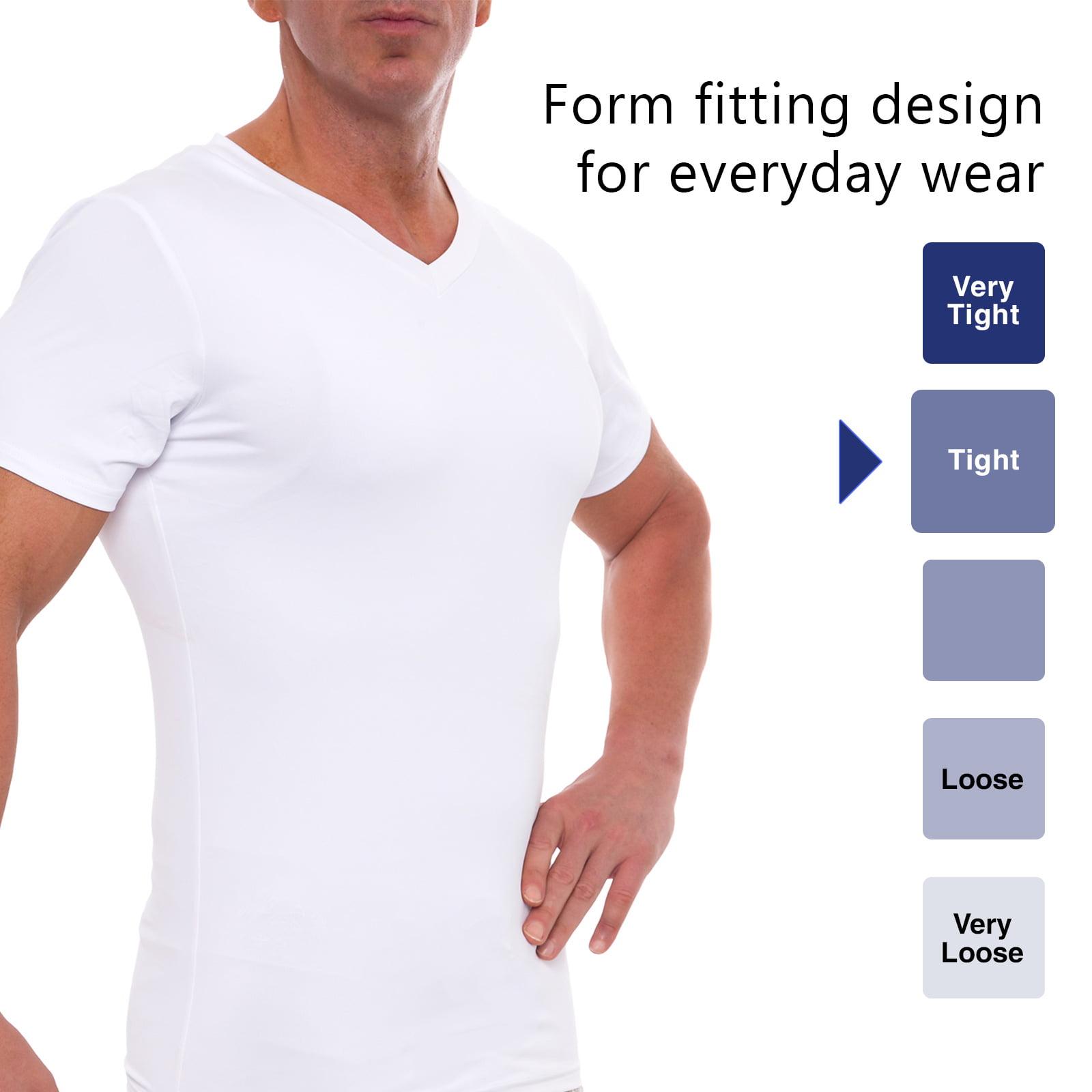 dd69a118d3113 LISH - LISH Men s Slimming Compression Body Shaper Gynecomastia V-Neck Shirt  - Walmart.com