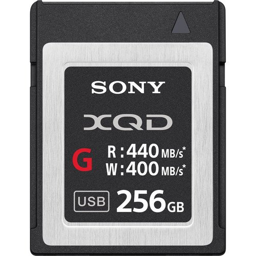 Sony QDG256E/J Memory Card Xqd G Series Qdm256e/j 256gb 440mb/s Read 400mb/s Write