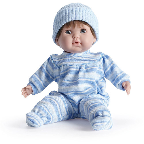 "JC Toys Nonis 15"" Doll, Blonde, Blue Stripes"