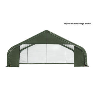 Peak Style Shelter 30x20x20 Steel Frame in Green Cover by