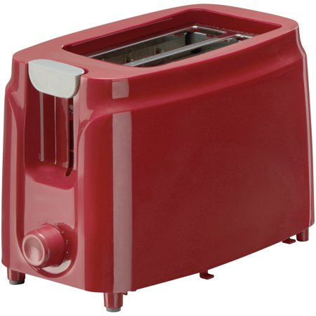 Mainstays 2-Slice Toaster, Red Fruit (Red Kitchen Aide Toaster)