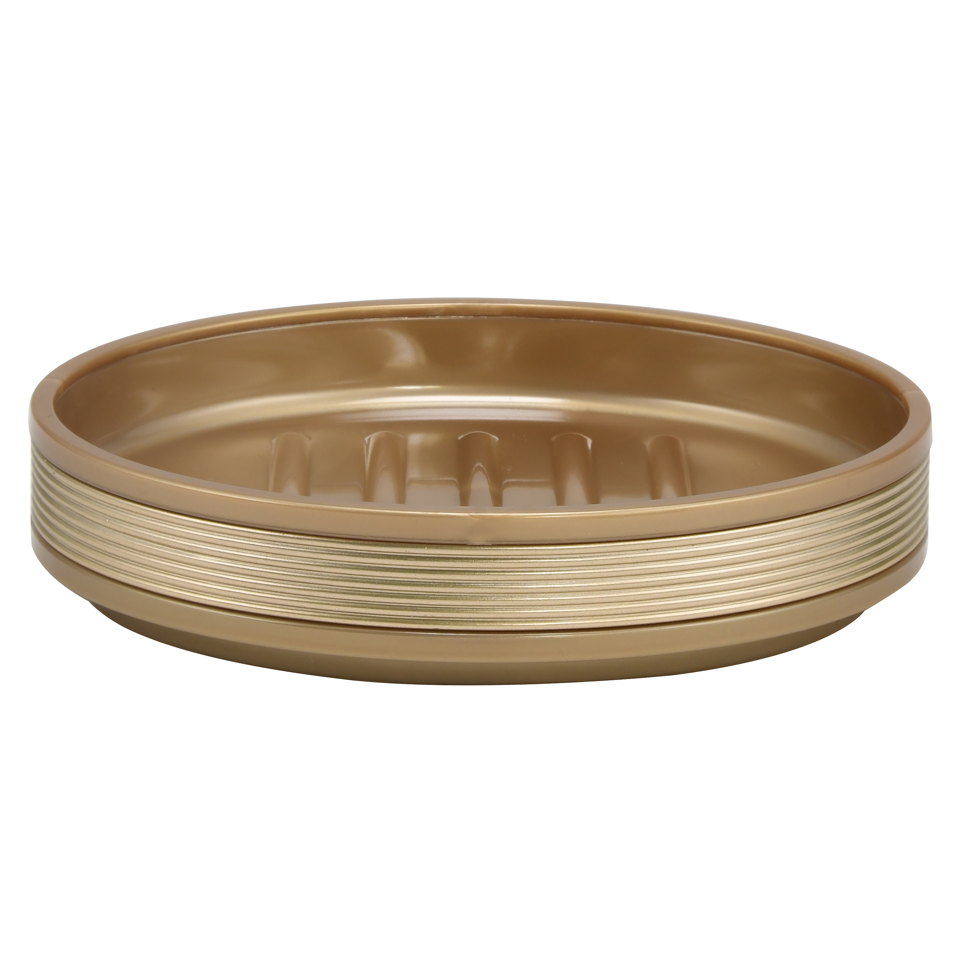 Mainstays Soft Touch Gold Soap Dish, 1 Each