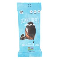 Skinny Dipped Almonds - Dark Chocolate Cocoa - Case of 10 - 1.5 OZ
