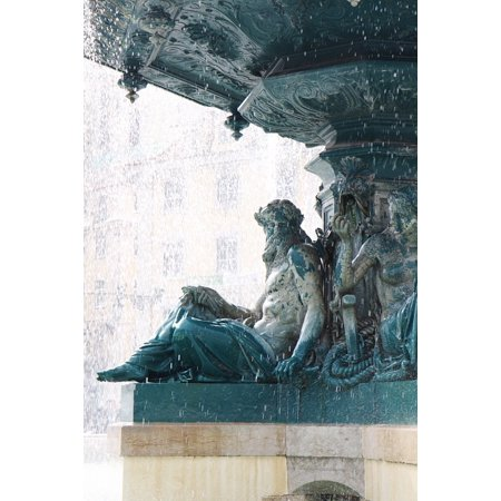 Canvas Print Sculpture Water Lisbon Statue Monument Fontana Stretched Canvas 10 x - Party City Fontana