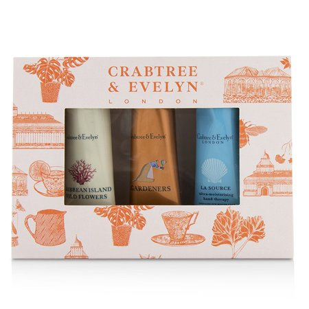 Crabtree & Evelyn Bestsellers Hand Therapy Set (1x Caribbean Island Wild Flowers, 1x Gardeners, 1x La Source) - 3x25g/0.9oz ()