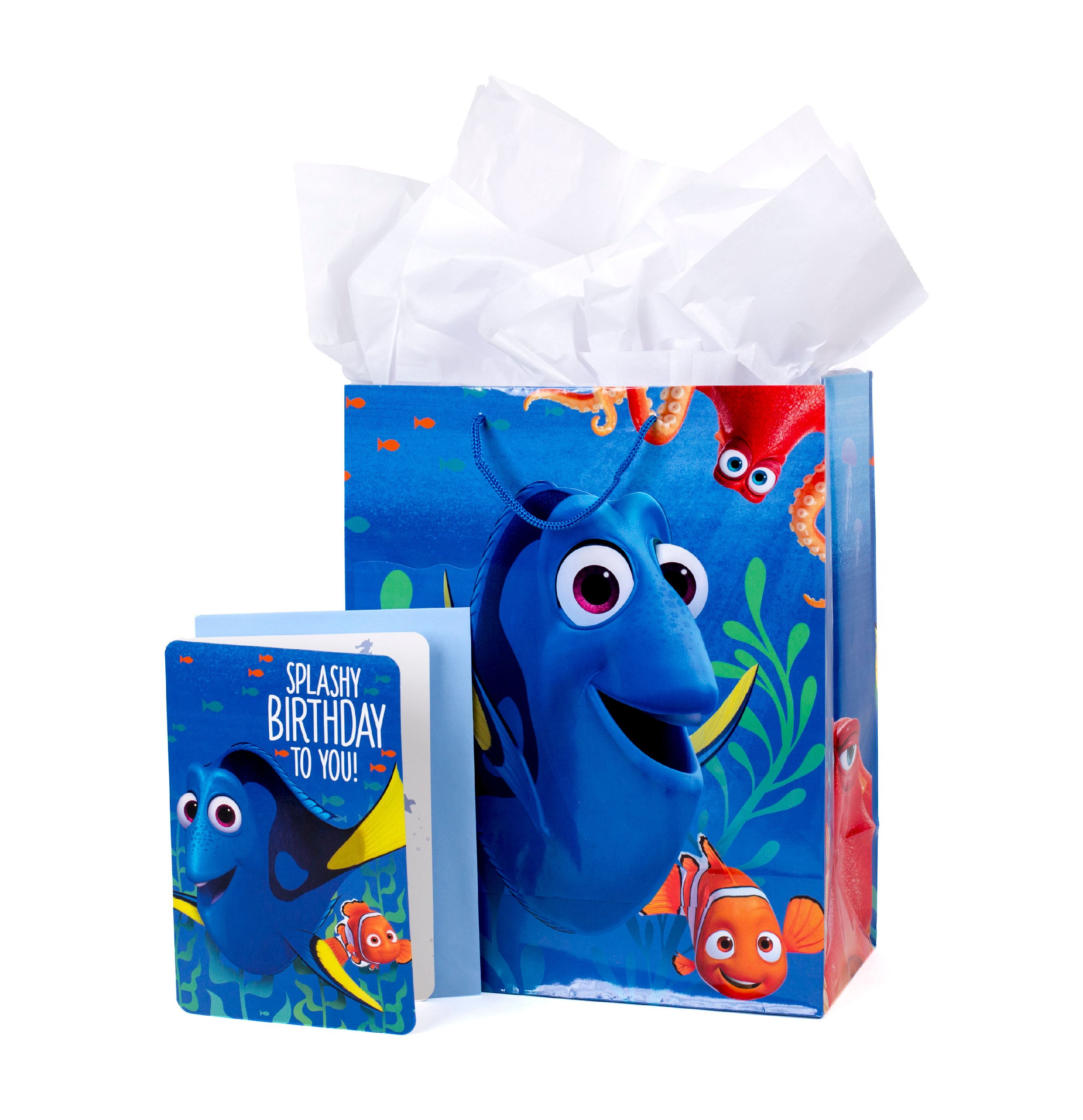 Hallmark, Finding Dory, Large Birthday Gift Bag with Card and Tissue Paper