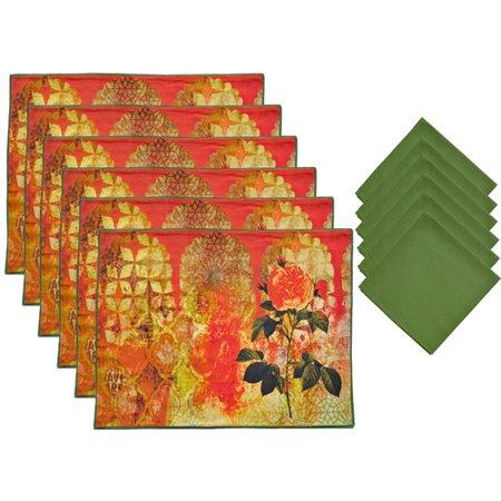 Linden 12 Piece - Aspire Linens 12 Piece Placemat Set