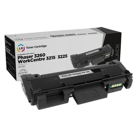 LD Compatible Replacement for Xerox 106R02777 High Capacity Black Toner Cartridge for Xerox Phaser 3260, 3260/DNI, 3260/DI & WorkCentre 3215, 3215/NI, 3225/DNI High Capacity Phaser