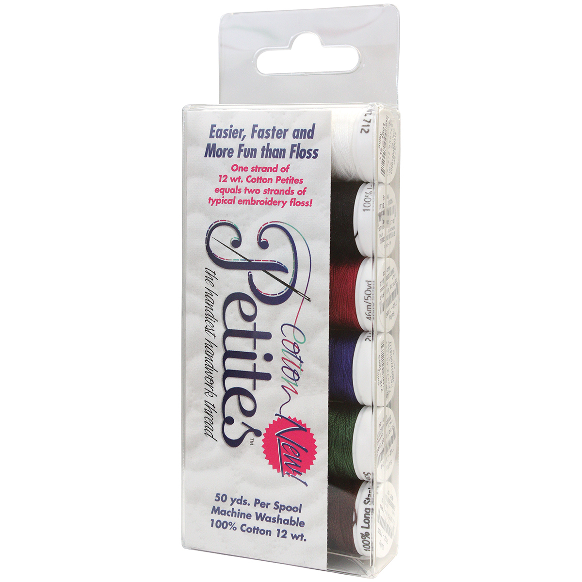 Sulky Sampler 12wt Cotton Petites 6/Pkg-Most Popular Assortment