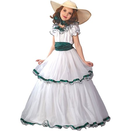 Morris costumes FW5934LG Southern Belle Child Large (Southern Belle Child Halloween Costume)
