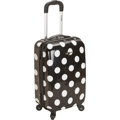"Rockland Luggage Reno 20"" ABS Hard-Sided Spinning Carry-On Luggage, Black Dot"