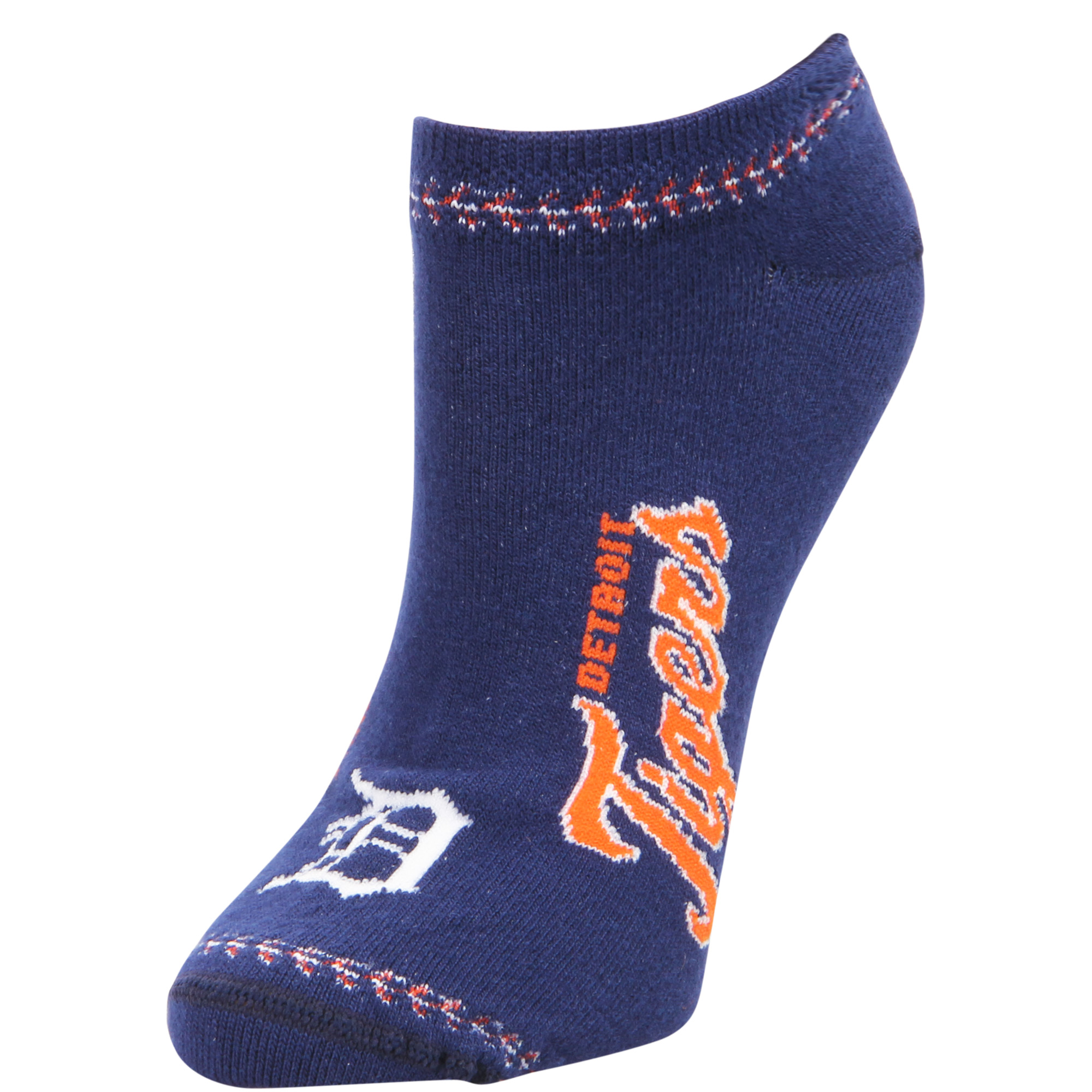 Detroit Tigers For Bare Feet Women's Stitch Ankle Socks - M