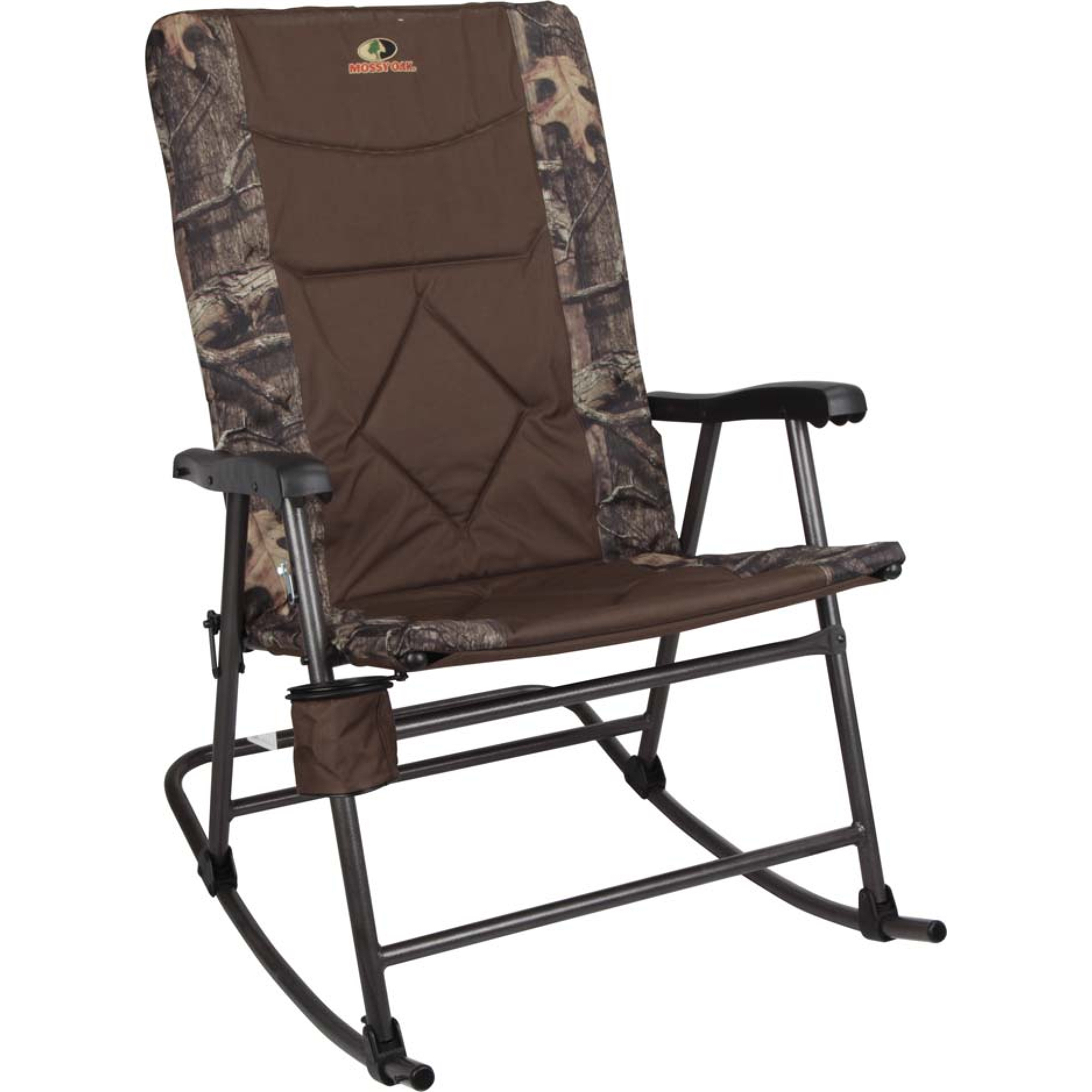 Mossy Oak Large Rocker Chair With Cup Holder