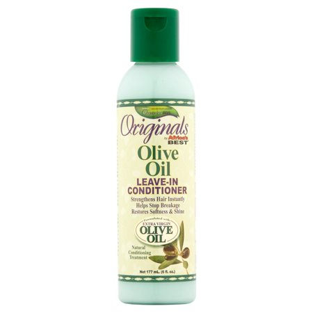 (2 Pack) Africa's Best Organics Originals Olive Oil Leave-In Conditioner, 6 fl
