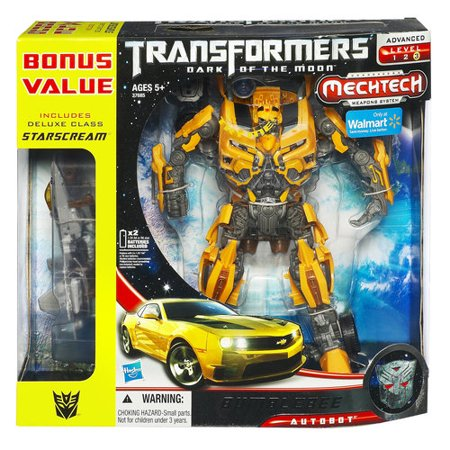 Transformers Dark Of The Moon Bumblebee Figure With Deluxe Class Starscream Vehicle - Girls Transformers