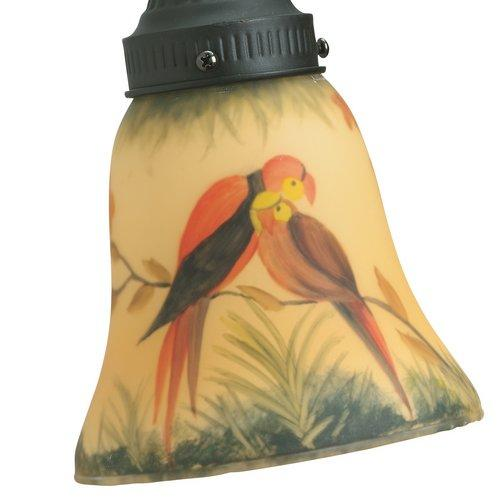 2.25 in. Glass Ceiling Fan Light Kit Hand-Painted Parrot
