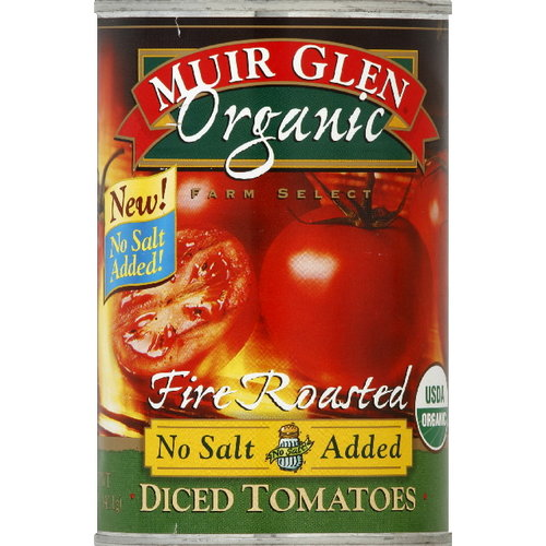 Muir Glen Organic Fire-Roasted Diced Tomatoes, 14.5 oz (Pack of 12)