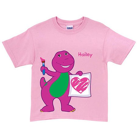 Personalized Barney & Friends Painting Pink Toddler Girl - Barney Apparel