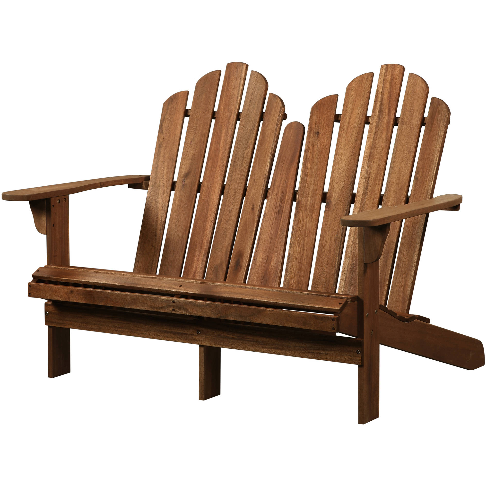 Linon Adirondack Double Bench, Brown by Linon Home Decor Products Inc