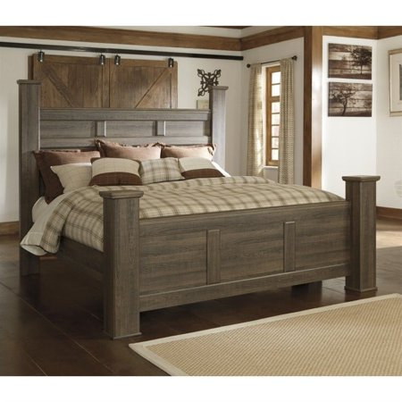 Signature Design By Ashley Furniture Juararo Poster Bed In Dark