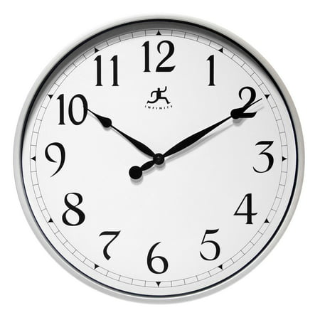 18 Instruments (Infinity Instruments 18 in. Silver Wall Clock)
