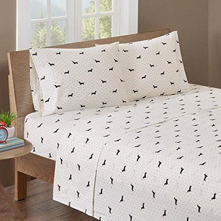 Cotton Sheet Set Black/Ivory/Queen - image 1 of 1