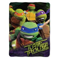 Teenage Mutant Ninja Turtles Green Team 46x60 Silk Touch Throw