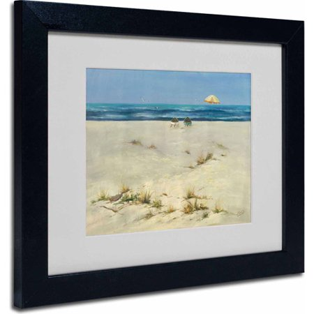 """Trademark Fine Art """"Two Small Boats"""" Canvas Art by Rio, Wood Frame"""