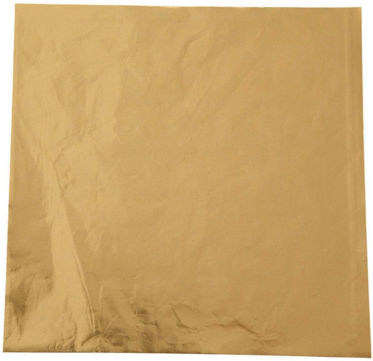 4 by 4-Inch 50-Pack Gold Wilton Foil Candy Wrappers