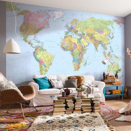 WallPops! Komar World Map 12.08\' x 98\'\' Wall Mural - Walmart.com