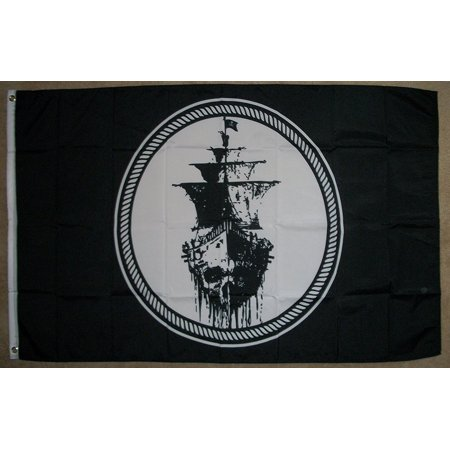 3'x5' Ghost Pirate Ship Flag Black Sea Mutiny Jolly Roger Skull Sword Banner 3X5, Brand New 3'x5' (90cm x 150cm) 100% Polyester Indoor/outdoor flag. By FlagsImp](Pirate Flag For Sale)