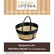 Hamilton Beach 80675 Washable & Reusable Coffee Filter Fits 8-12 Cup Coffee Makers