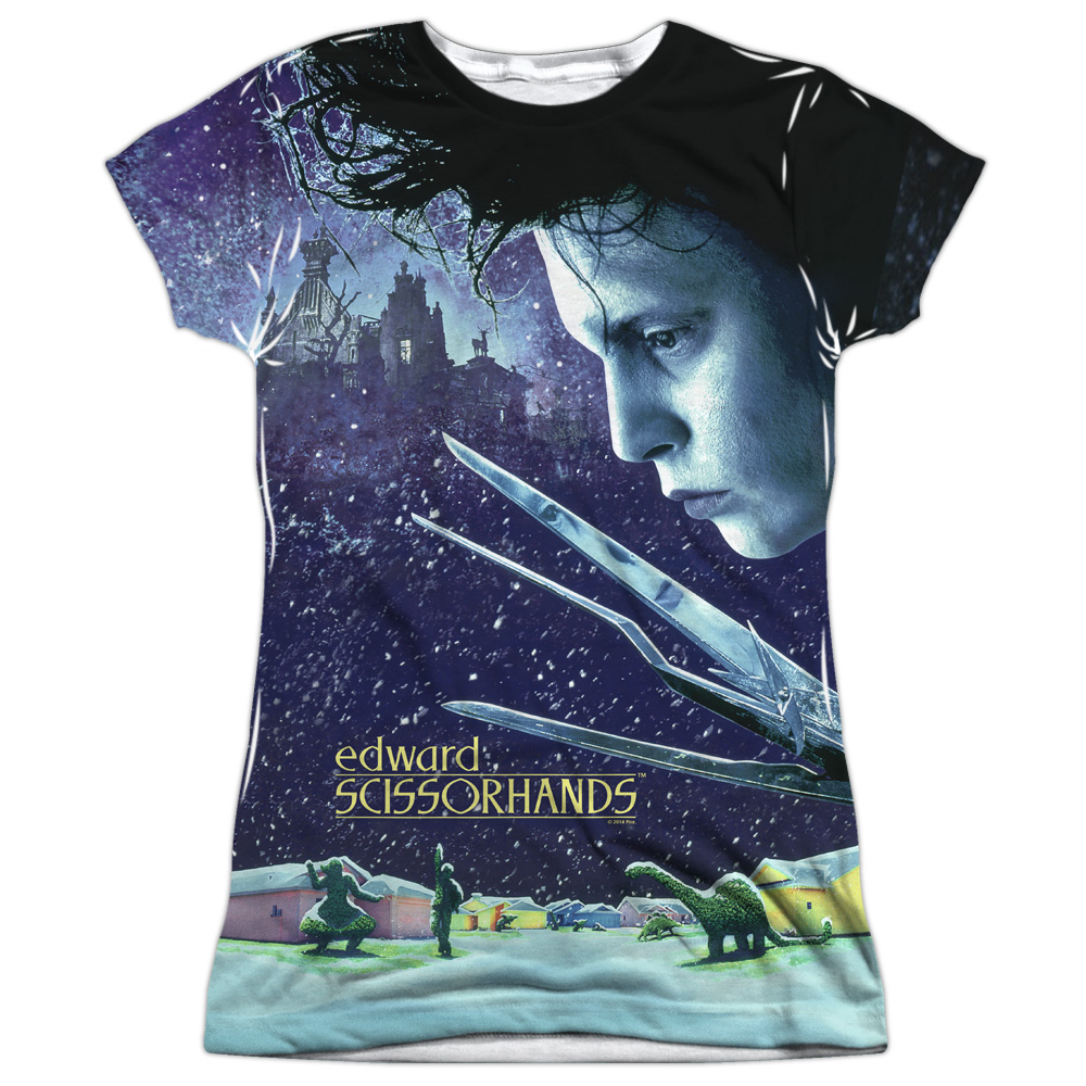 Edward Scissorhands Home Poster Juniors Sublimation Shirt