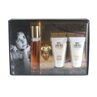 White Diamonds Perfume Gift Set ( Eau De Toilette Spray 1.7 Oz + Parfum 0.12 Oz + Perfumed Body Lotion 1.7 Oz + Gentle Moisturizing Body Wash 1.7 Oz ) For Women By Elizabeth Taylor