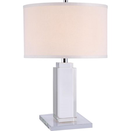Table Lamp REGINA Transitional 1-Light Clear Chrome Crystal New E26 Medi EL-3027