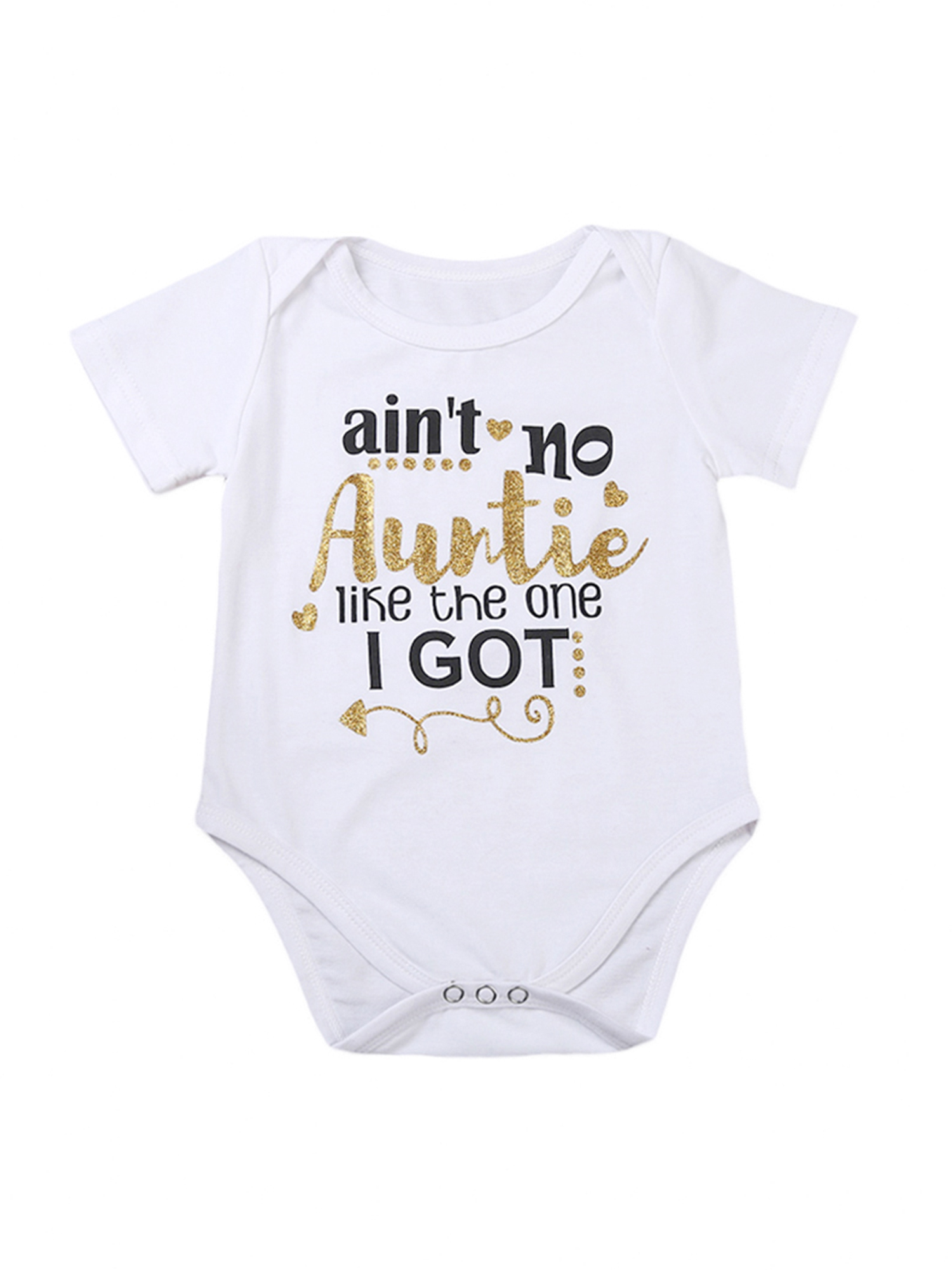Baby Stylish Letter Bodysuit In White