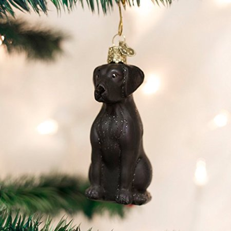 Old World Christmas Black Labrador Glass Blown Ornament