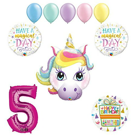 Magical Unicorn 5th Birthday Party Supplies And Balloon Decorations